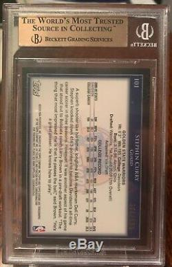2009-10 Stephen Curry Topps Chrome Refractor Rookie BGS 9.5 GEM MINT! HOT