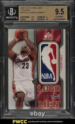 2009 SP Game Used LeBron James NBA LOGOMAN PATCH /7 BGS 9.5 GEM MINT