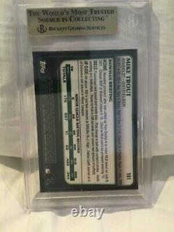 2011 Bowman Chrome Draft Mike Trout ROOKIE RC #101 BGS 9.5 GEM MINT