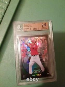 2011 Mike Trout Bowman Chrome Refractor Rookie Card#175 Graded Bgs 9.5 Gem Mint
