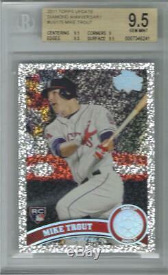 2011 Mike Trout Topps Update Diamond Anniversary RC. Graded BGS 9.5 Gem Mint