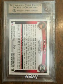 2011 Topps Update #US175 Mike Trout Rookie card BGS 9.5 GEM MINT PSA 10 HOT