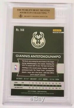 2015-16 Prizm Giannis Antetokounmpo Prizms White Sparkle Bgs 9.5 Gem Mint Pop 6