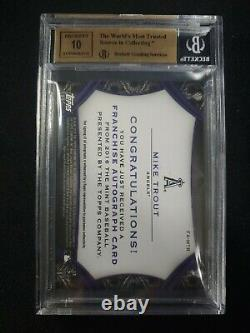 2016 Topps The Mint Mike Trout Auto Purple BGS GEM MINT Angels ONCARD #/50