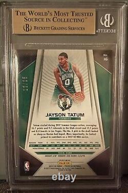2017-18 Panini Prizm Green Pulsar Jayson Tatum RC 12/25 BGS 9.5 Gem Mint