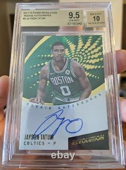 2017-18 Panini Revolution Rookie Autograph Jayson Tatum BGS 9.5 GEM MINT 10 AUTO