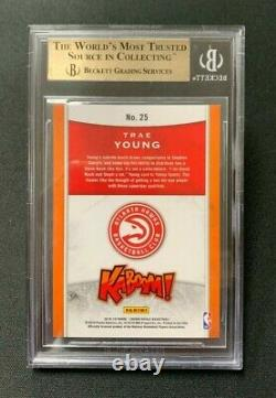 2018 Crown Royale KABOOM! TRAE YOUNG RC 1st Year Gem Mint BGS 9.5 with10 sub