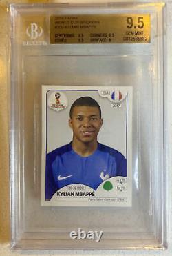 2018 Panini World Cup Kylian Mbappe Rookie Sticker #209 Bgs 9.5 Gem Mint