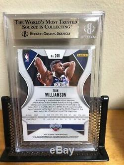 2019-20 Panini Prizm Zion Williamson #248 Rookie Rc/bgs 9.5 Gem Mint Pelicans