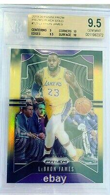 2019-20 Prizm Lebron James Black And Gold Lakers /5 Bgs Gem Mint 9.5
