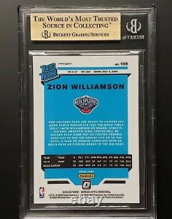 2019-20 Zion Williamson Optic Holo Silver Prizm Gem Mint Bgs 9.5 = Psa 10