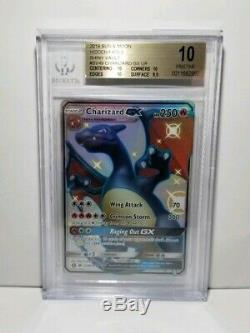 BGS 10 Pristine Hidden Fates Shiny Charizard GX SV49 PSA 10 Gem Mint