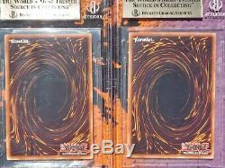 BGS 9.5 GEM MINT Blue-Eyes White Dragon & Dark Magician SDK E 001 & SDY E 005