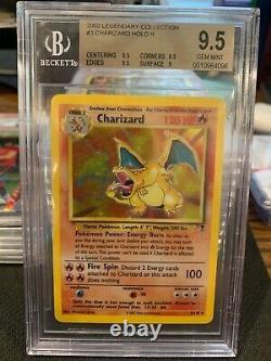 BGS 9.5 Gem Mint CHARIZARD HOLO Pokemon TCG Legendary Collection #3 = PSA 10