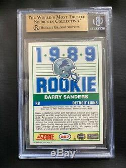 Barry Sanders 1989 Score BGS 9.5 (9.5,9.5,9.5,10) True Gem Mint