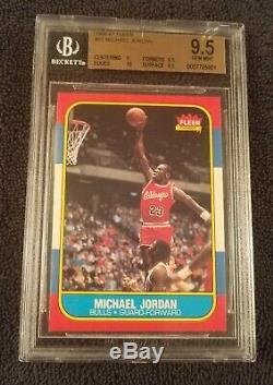 Bgs 9.5 Gem Mint 1986 Fleer Michael Jordan Rc #57 Rookie Subs 10 / 9.5 / 9.5 / 9