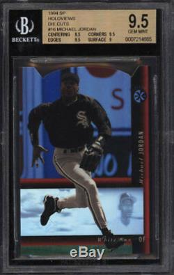 Bgs 9.5 Michael Jordan 1994 Upper Deck Sp Red Holoview Die-cut #16 Rc Gem Mint