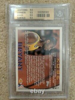 Bgs Quad 9.5 1996-97 Topps #138 Kobe Bryant Lakers Rc Rookie Gem Mint Psa 10