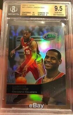 Hot 2003 LeBron James Rookie Topps ETopps Gem Mint 9.5 BGS 10 Sub #10000 SP