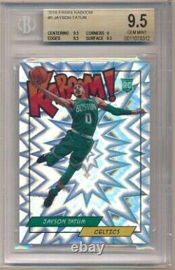 Jayson Tatum 2018 Panini #5 Rc Rookie Kaboom Insert Celtics Sp Bgs 9.5 Gem Mint