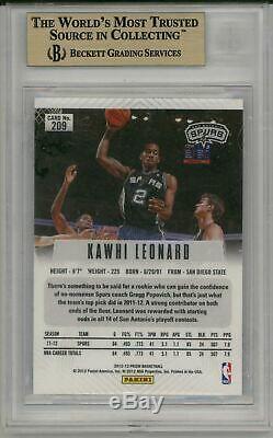 KAWHI LEONARD 2012-13 Panini Prizm Rookie Card RC #209 BGS 9.5 Gem Mint Clippers