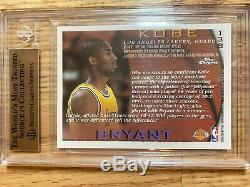 KOBE BRYANT 1996-97 Topps Chrome RC #138 Rookie BGS 9.5 True Gem Mint QUAD 9.5s