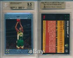 Kevin Durant Warriors NETS 2007 Topps Chrome 131 Rookie Card rC BGS 9.5 Gem Mint