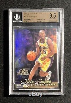 Kobe Bryant Rookie BGS Gem Mint 9.5 1996-97 Flair Showcase Row 1 #31