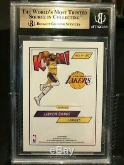 LeBron James 2018 Panini Kaboom! Lakers #K-LBJ BGS 9.5 Gem Mint