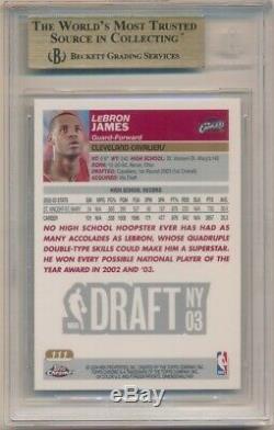 Lebron James 2003/04 Topps Chrome #111 Rc Rookie Cavaliers Sp Bgs 9.5 Gem Mint