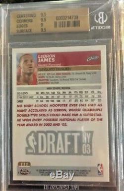 Lebron James 2003-04 Topps Chrome Rookie Rc Bgs 9.5 Gem Mint L@@k The Goat
