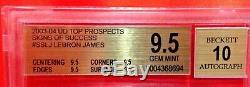 Lebron James Rookie Auto Bgs 9.5 Gem Mint 2003-04 Upperdeck Signs Of Success