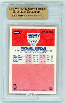 MICHAEL JORDAN 1986-87 Fleer Basketball Rookie RC Card HOF #57 BGS 9.5 Gem Mint