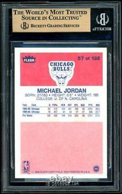 Michael Jordan 1986-87 Fleer #57 RC BGS 9.5 Gem Mint Rookie Card Quad 9.5 Subs