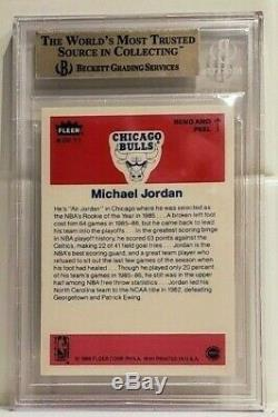 Michael Jordan 1986-87 Fleer Sticker Rookie Card #8 Bgs 9.5 Gem Mint Rc