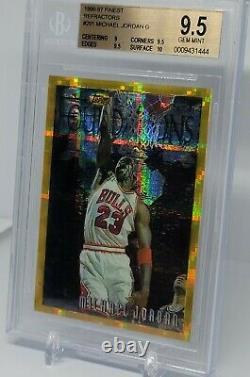 Michael Jordan 1996-97 Topps Finest Gold Refractor #291 BGS 9.5 Gem Mint