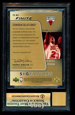 Michael Jordan 2004-05 Upper Deck UD Finite Gold Auto /10 BGS 9.5 GEM MINT 10
