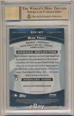 Mike Trout 2009 Bowman Sterling Rc Rookie Autograph Sp Auto Bgs 9.5 Gem Mint 10