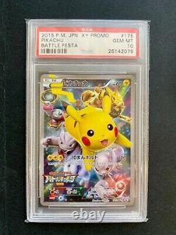 Pikachu Holo Pokemon Card Battle Festa 2015 Japanese Promo 175/XY-P BGS PSA 10