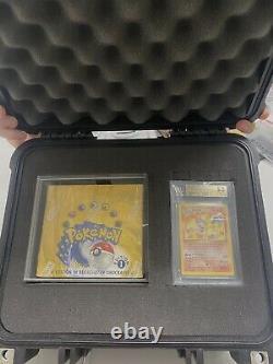 Pokemon 1. Edition Booster Box + Glurak Gem Mint BGS 9.5