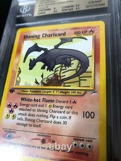 Pokemon 1st Edition Shining Charizard Neo Destiny BGS 9.5 GEM MINT Rare Regrade