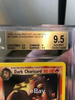 Pokemon 1st Edition Team Rocket Dark Charizard Holo BGS 9.5 Gem Mint! ERROR