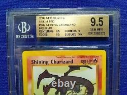 Pokemon WoTC Neo Destiny #107 Shining Charizard Holo BGS Graded 9.5 Gem Mint PSA
