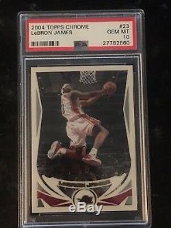 Pristine 2004 LeBron James Topps Chrome 2d year card #23 PSA 10 Gem Mint BGS MVP