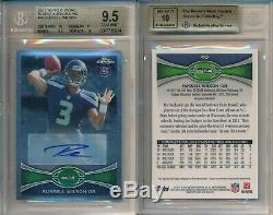 Russell Wilson 2012 Topps Chrome Auto 40 Rookie Rc BGS 9.5 Auto 10 Gem Mint x834