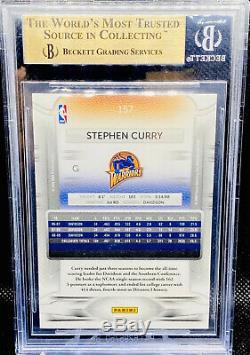 Stephen Curry 2009-10 Prestige Rookie Card Warriors #157 Rc Bgs 9.5 Gem Mint