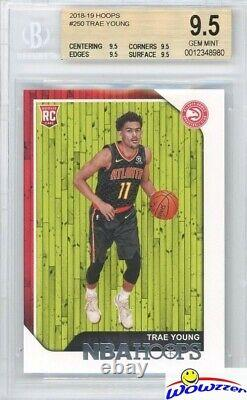 TRAE YOUNG 2018/19 Panini Hoops #250 ROOKIE BGS 9.5 GEM MINT Hawks