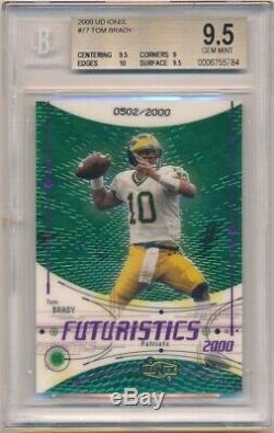 Tom Brady 2000 Ud Ionix #77 Rc Rookie Card Patriots Sp #/2000 Bgs 9.5 Gem Mint