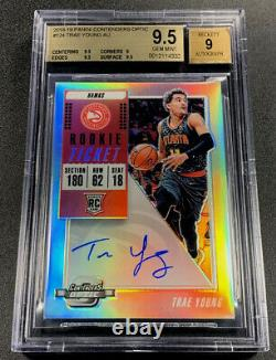 Trae Young 2018 Contenders Optic #124 Auto Rookie Rc Bgs 9.5 Gem Mint Hawks Nba
