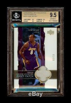 03-04 Kobe Bryant Ud Exquis De Base Parallel Patch / 10 Bgs 9,5 Gem Mint Pop 1